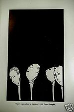 Anne Fish 1913 Illustration Art Deco Black & White Print Satire Politicians Art
