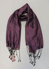 Artisans Angkor Women's River Chorebap Silk Scarf SC4 Aubergine One Size NWT