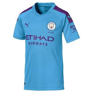 Manchester City Football Shirt Kids Puma Home Football Shirt - New