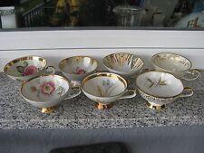 7 TASSES  Porcelaine  BAVARIA Différents décor + DORURES