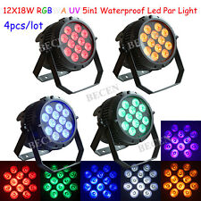 Waterproof 12x18w 6in1 led par light RGBWA UV outdoor led party light in US 4pcs