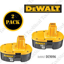 (2) DeWALT GENUINE DC9096 18V XRP™ Battery Packs W/ FACTORY WARRANTY!! DC9096-R