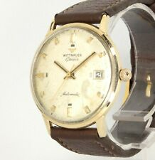 Vintage Mens WITTNAUER Geneve Thin 10K RGP rolled Gold Cal C11KAS1