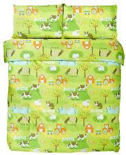 Farmyard Farm Tractor Childrens Boys Bedding Duvet Cover & Pillowcase Cover Set