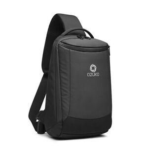 Men's Chest Bags Anti-Thief Crossbody USB Charging Large Capacity Shoulder Bag