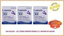 300 GLOBAL LANCETS (30 GAUGE)  – EXPIRATION 2022 BRAND NEW – PRIORITY MAIL ONLY