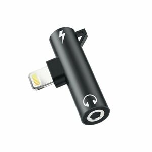 2 in 1 Lightning to Lightning and 3.5mm Jack  Dual Charge and Music Apple iPhoNe