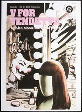 V FOR VENDETTA REPRO POSTER . DAVID LLOYD 1988 FRONT COVER . DC COMICS D77