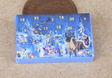 1:12 Scale Empty Christmas Advent Calendar Dolls House Xmas Display Accessory A