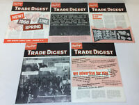 lot of five RAWLINGS TRADE DIGEST brochures ~ 1965-1966 ~ sports equipment