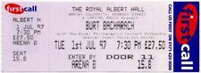 Burt Bacharach Royal Albert Hall, London 1/7/97 Ticket CD