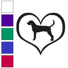 American Fox Hound Dog Heart Decal Sticker Choose Color + Large Size #lg1415