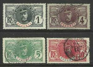 FRENCH DAHOMEY 1906 FAIDHERBE ISSUES - GOOD MOUNTED MINT AND USED