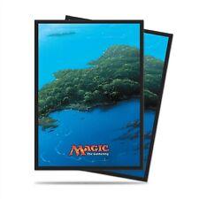 Ultra Pro Standard Deck Protector, MTG Mana 5 Blue Unhinged Island 80ct