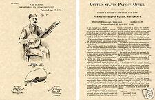 1889 BANJO PICK PATENT Art Print READY TO FRAME!!! Ukulele Uke Thimble cool