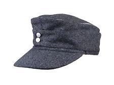 WWII GERMAN WH EM OFFICER M43 PANZER WOOL FIELD CAP GREY SIZE M-33865