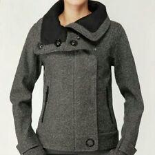Lululemon Audrey Tweed Bomber Jacket gray sz 8 funnel neck fleece lined coat