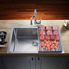 """Deep Stainless Steel Single Bowl 18Gauge Undermount Kitchen Sink 28"""" x 18"""" x 9"""""""