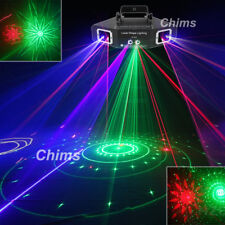 Chims DMX 4 Len RGB Gobos Beam Network Laser Light Home Party DJ Stage Lighting