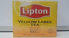 LIPTON YELLOW Label 100 Black Tea Bags 200grams #