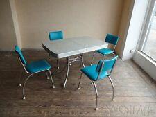 Original 40er 50er American Diner Tisch Stuhl Table Chair Stahrohr 40s 50s USA