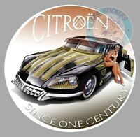 AUTOCOLLANT DS CITROEN PIN UP PINUP SINCE ONE CENTURY CUSTOM ID STICKER CD007
