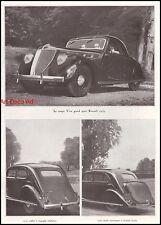 Publicité Renault Coupé Viva Grand Sport  car vintage print ad  1937 - 11h