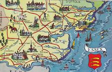 Map of Essex Postcard Unused VGC
