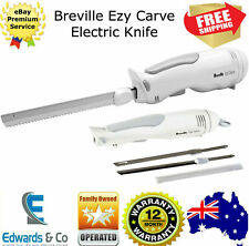 Electric Carving Knife Stainless Steel Blades Dishwasher Safe Hanging Hoop White