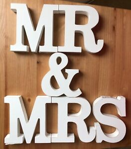 Wooden MR and MRS Wedding Table Decoration 11cm X 11 Cm X 2 Cm
