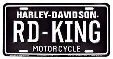 Harley Davidson Road King Embossed Metal Vanity Car License Plate Auto Tag