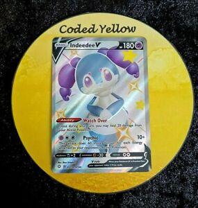 SV114/SV122 Indeedee V | Pokémon Shining Fates SWSH | FULL ART Card | New Mint