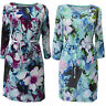 New White Stuff size 8 - 18 Floral Print Green Aqua Purple Shift Tea Dress