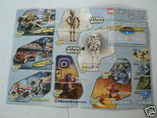 LEGO BROCHURE FLYER CATALOG TOYS 2000/2001 STAR WARS DUTCH 2 PAGES 128