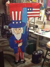 Mr. Independence / Uncle Sam Large Shaped Handmade Decorative Flag