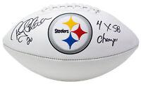 Rocky Bleier Signed Pittsburgh Steelers Logo Football 4x SB Champs Inscribed JSA