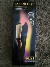 "Gold N' Hot Professional 2"" Ceramic Crimping Hair Iron"