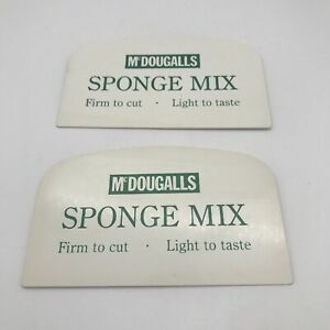 2 Vintage Mcdougalls Sponge Mix Scraper Unused