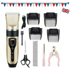 Pet Dog CAT PUPPY Grooming Clipper Electric Low Noise Shaver Trimmer Cordless