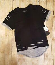 Smoke Rise Mens Black Distressed Casual Crew Neck T Shirt Tee Short Sleeve Sz. L