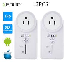 2 x WiFi Smart Plug Power Switch Outlet Alexa Echo Smart Home Wireless Socket