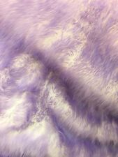 "Faux Fur fake White With lavender  Frosted tips fabric 60"" Wide sold by the yard"