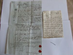 1857 Obligation bond, Mold, Bala, Chester connections, Thomas Williams & letter