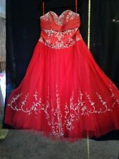 Red Formal Dress, Quinceanera, Sweet 16 or ballroom Styles
