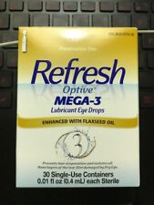 Refresh Optive MEGA-3 Lubricant Eye Drops 30 Single-Use Containers EXP:03/2020