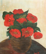 1996 STILL LIFE WITH FLOWERS OIL PAINTING SIGNED