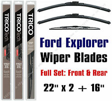 "Ford Explorer 4-Door 2002-2003 Wiper Blades 3pk 22""x2 +16"" 19220x2/30160"