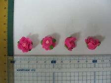 Crafts decorate clay Beads, Poly Clay Rose Beads Sew on Crafts Notion 18mm 3pcs