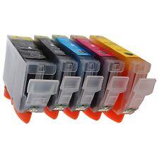5 x Canon SCHEGGIATO Cartucce Inkjet Compatible For Printer MG5150