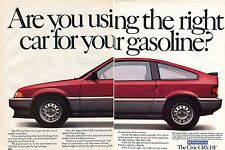 1984 Honda CRX HF Economy Driven Fuel Maximizing 5 Speed 2 Page Print Ad